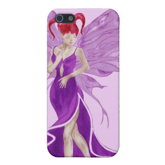 Flutterby Fae (grape) iphone4 case iPhone 5 Cases