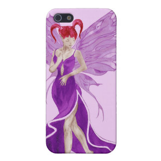 Flutterby Fae (grape) iphone4 case Covers For iPhone 5