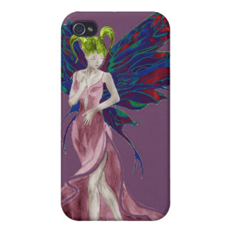 Flutterby Fae (Rose) iphone4 case Case For iPhone 4