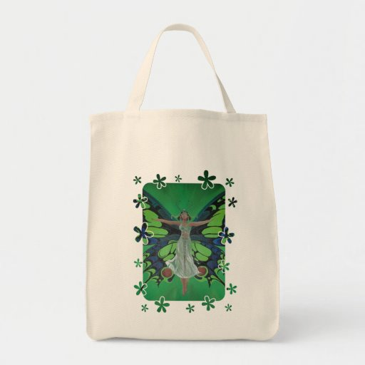 Flutterby Fairy Grocery Tote Bag