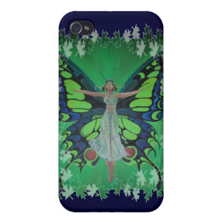 Flutterby Fairy with Leaves iPhone 4 Cover