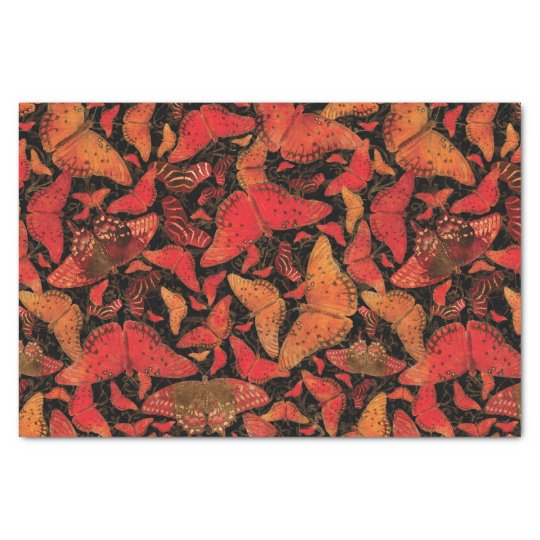 Flutterby Fall Butterflies on Black Tissue Paper