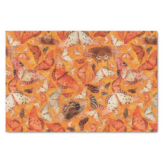 Flutterby Fall Butterflies Orange Tissue Paper