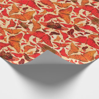 Flutterby Fall Butterflies Wrapping Paper