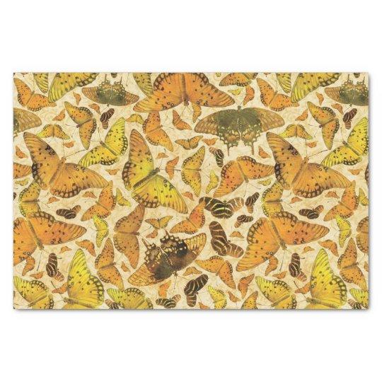 Flutterby Fall Butterflies Yellow Orange Tissue Paper