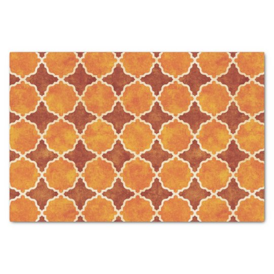 Flutterby Fall Geometric Brown Tissue Paper