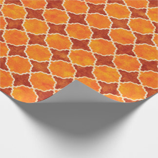 Flutterby Fall Geometric Brown Wrapping Paper