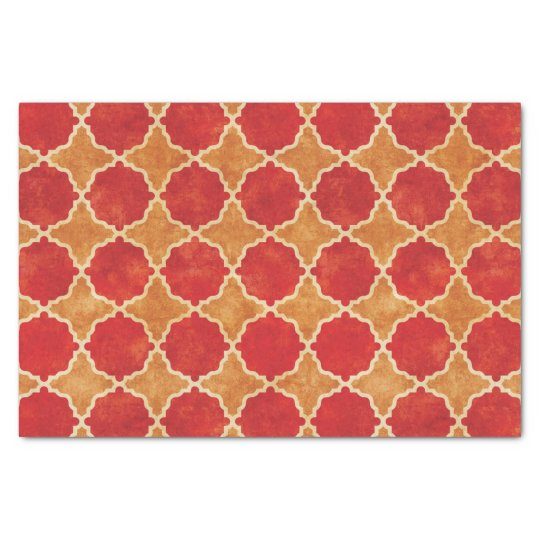 Flutterby Fall Geometric Red Tissue Paper