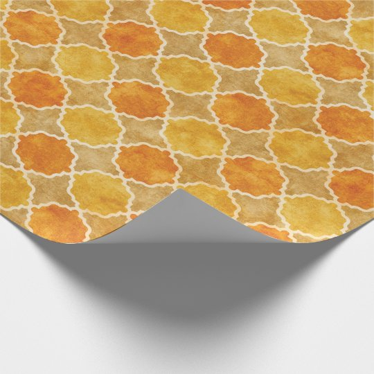 Flutterby Fall Geometric Wrapping Paper
