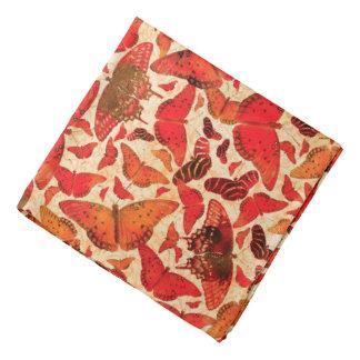 Flutterby Fall Red Butterflies Bandana