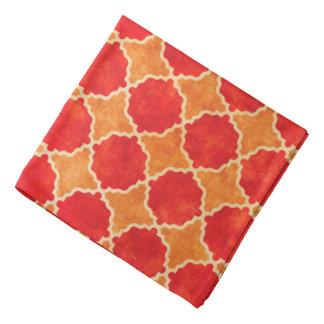 Flutterby Fall Red Geometric Bandana