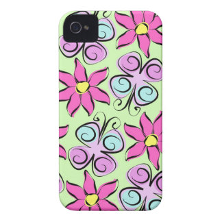 Flutterby flowers Case-Mate iPhone 4 cases