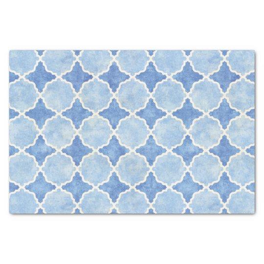 Flutterby Winter Geometric Blue Tissue Paper