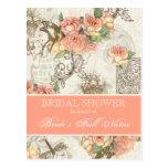 Flutterbyes n Roses Elegant Bridal Shower Postcard