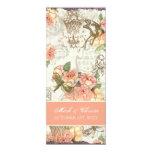 Flutterbyes 'n Roses Elegant Menu Card 10 Cm X 24 Cm Invitation Card