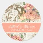 Flutterbyes 'n Roses Elegant Wedding Stickers