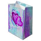 Flutterbys Valentines Folk Art MEDIUM ONLY Medium Gift Bag