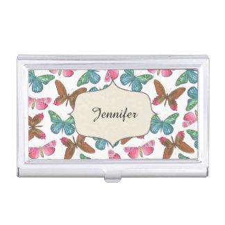Fluttering Butterflies Business Card Holder