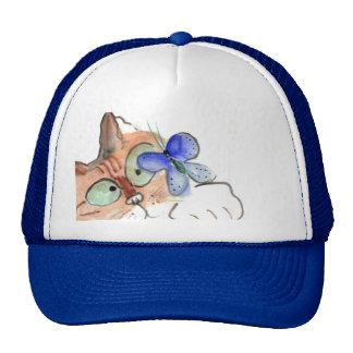Fluttering Curiosity is Flying Past Kitten Trucker Hat