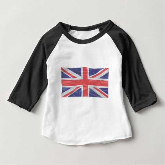 Fluttering Silk Union Jack Baby T-Shirt