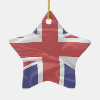 Fluttering Silk Union Jack Christmas Ornament