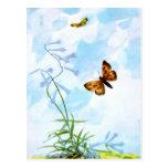 Fluttering Vintage Butterflies Postcard