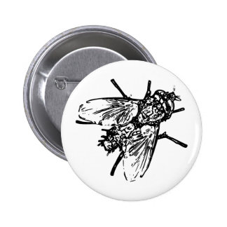 Fly 6 Cm Round Badge