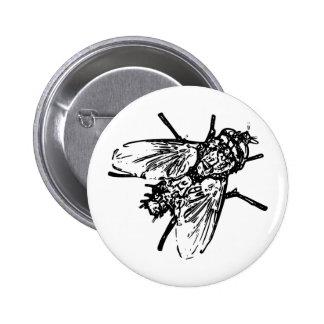 Fly 6 Cm Round Badge