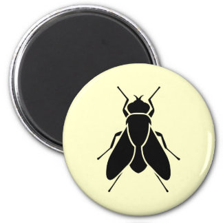 Fly 6 Cm Round Magnet