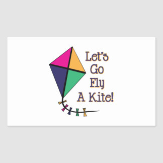 Fly a Kite Rectangular Sticker