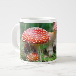 Fly-Agaric In A Forest, Closeup Photo Large Coffee Mug