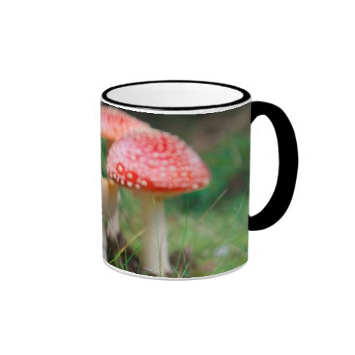 Fly-Agaric In A Forest, Closeup Photo Coffee Mug