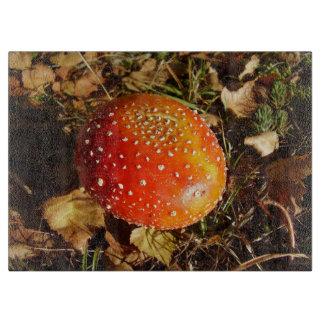 Fly Agaric Mushroom Glass Chopping Board