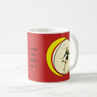 Fly and egg girls coffee mug