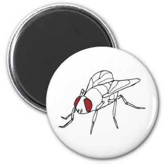 fly animal insect illustration graphic 6 cm round magnet