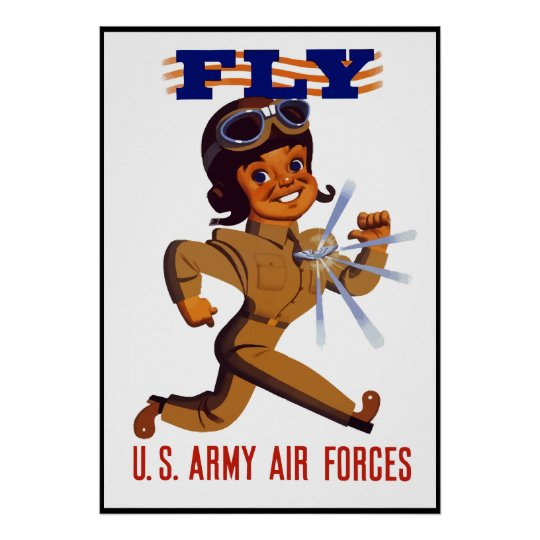 FLY -- Army Air Forces -- Border Poster