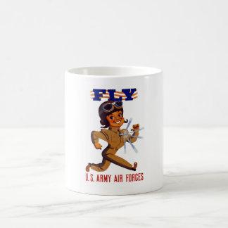 FLY -- Army Air Forces Basic White Mug