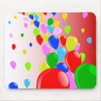 Fly Away Balloons Mouse Pad