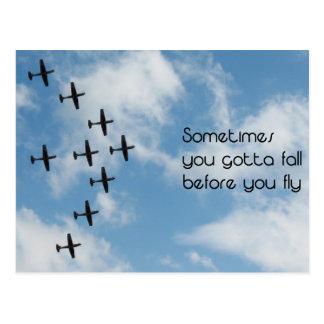 Fly Away Card Postcard