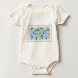 'Fly away insects' Baby Bodysuit