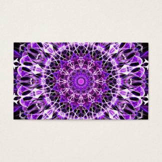 Fly Away Purple Kaleidoscope Business Card