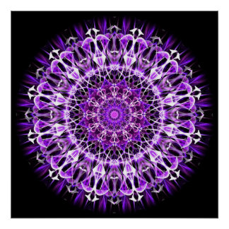 Fly Away Purple kaleidoscope Poster