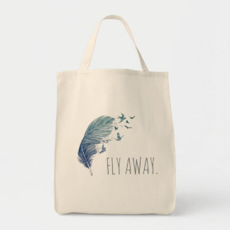 Fly Away Tote Bag,  Flying Birds Tote Bag