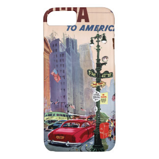 Fly BCPA to America Vintage Poster Restored iPhone 7 Case