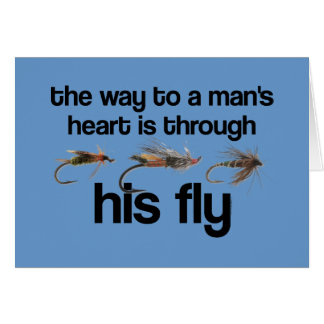 Fly Fish Man s Heart Card