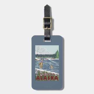 Fly Fisherman - Cordova, Alaska Luggage Tag