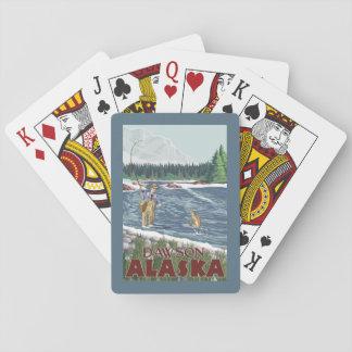 Fly Fisherman - Dawson, Alaska Playing Cards
