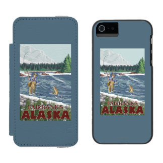Fly Fisherman - Fairbanks, Alaska Incipio Watson™ iPhone 5 Wallet Case