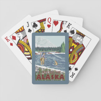 Fly Fisherman - Latouche, Alaska Playing Cards