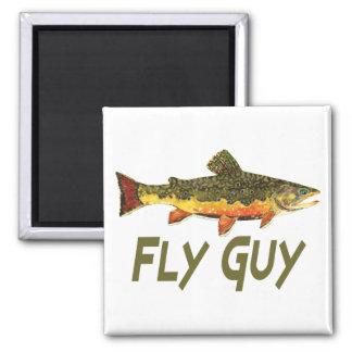 Fly Fisherman Fridge Magnets